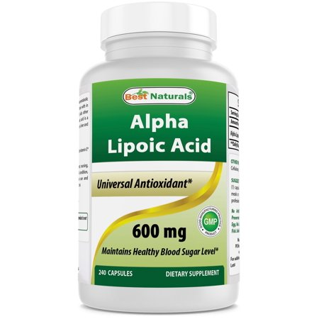 - Best Naturals Antioxidant Alpha Lipoic Acid Capsules, 600mg, 240 Ct