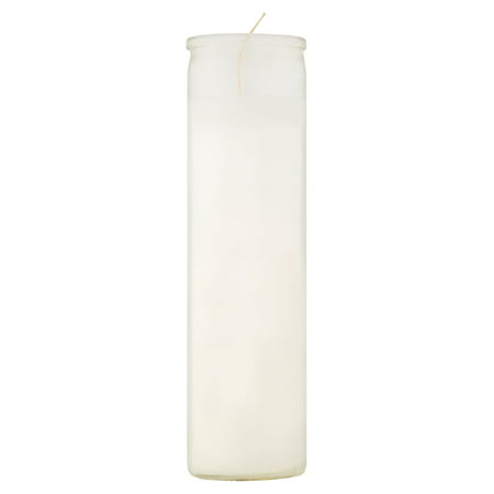 11.3oz Unscented Glass Jar Candle White - Continental Candle
