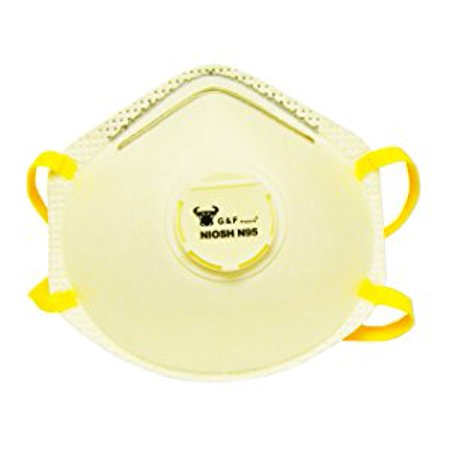 G & F 9116 N95 Particulate Respirator Dust Mask Box of 10 - Biohazard Respirator Mask