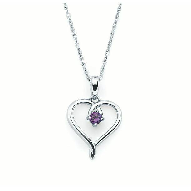 Amethyst necklace ~ Sterling silver amethyst pendant ~ February birthstone ~ February birthday jewellery ~ Purple amethyst ~ Heart necklace