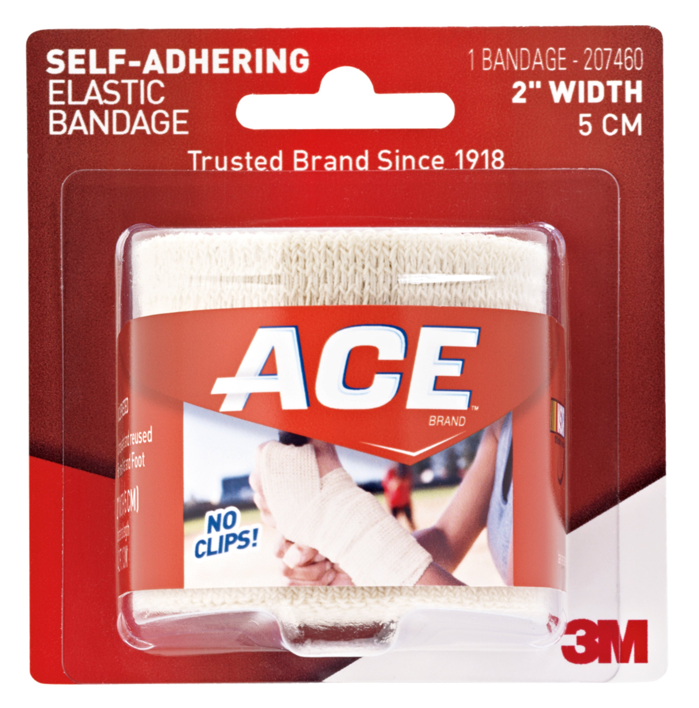 ACE Self-Adhering Elastic Bandage, 2 in, Beige, 1 bandage/pack