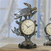 SPI Home- San Pacific Intl 33020 Turtle Clock - 6 W in.