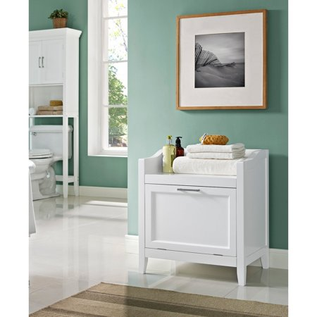 Wondrous Simpli Home Avington Storage Hamper Bench Walmart Com Creativecarmelina Interior Chair Design Creativecarmelinacom
