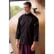 0435-0106 Soho Crossover Chef Coat in Black - 2XLarge