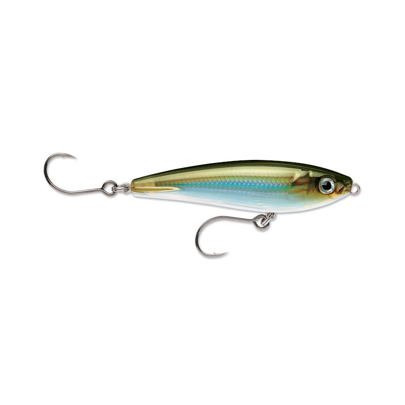 "2 Pack Rapala X-Rap Saltwater SubWalk 09 Fishing Lures Moss Back Shiner 3 1 2"" Runs 0-2' by Rapala"