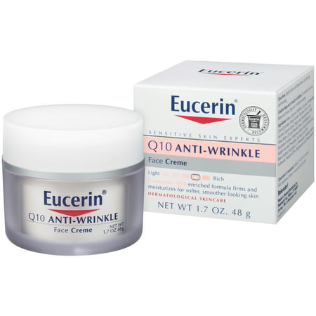 Eucerin Q10 Anti-Wrinkle Sensitive Skin Face Creme 1.7 (Best Drugstore Cc Cream For Dry Skin)