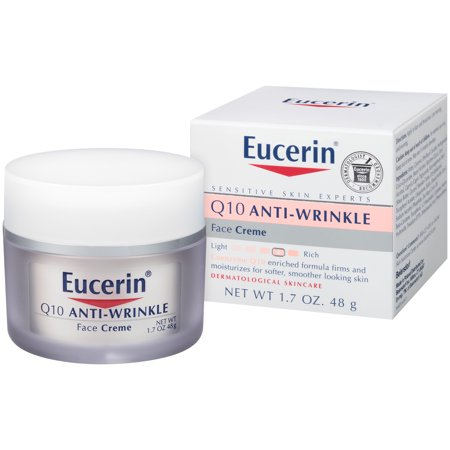 Hand Wrinkle Cream (Eucerin Q10 Anti-Wrinkle Sensitive Skin Face Creme 1.7 oz. )