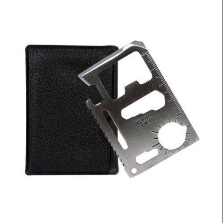 SURVIVAL TOOL CREDIT CARD SIZED EMERGENCY 11 IN 1 CASE CAMP SPORTS