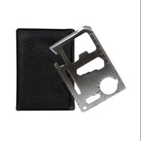 SURVIVAL TOOL CREDIT CARD SIZED EMERGENCY 11 IN 1 CASE CAMP SPORTS NEW