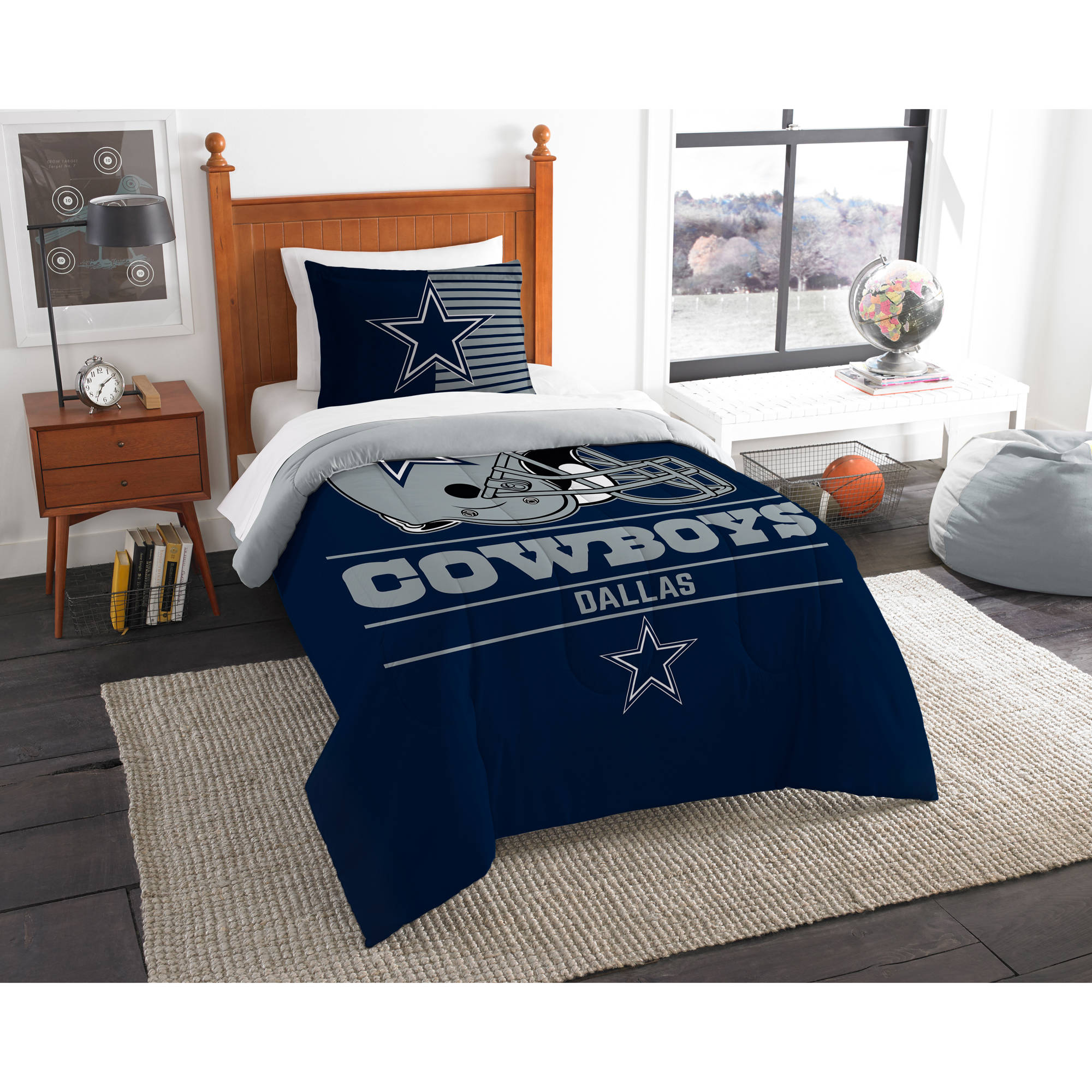 "NFL Dallas Cowboys ""Draft"" Bedding Comforter Set"
