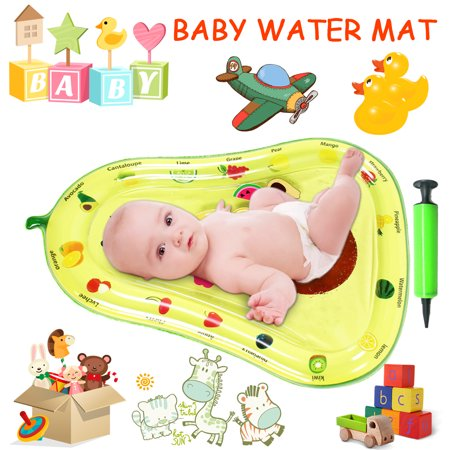 Inflatable Baby Water Mat, PVC Water Mat Fun Activity Play Center for Infants & Kids &Toddlers, Early Education Inflatable Patted Water Play Pad Cushion, Avocado Shape - image 1 of 9