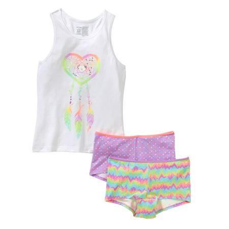 Faded Glory Girls Tank/Boyshort Underwear Panties Set (Little Girls & Big Girls)