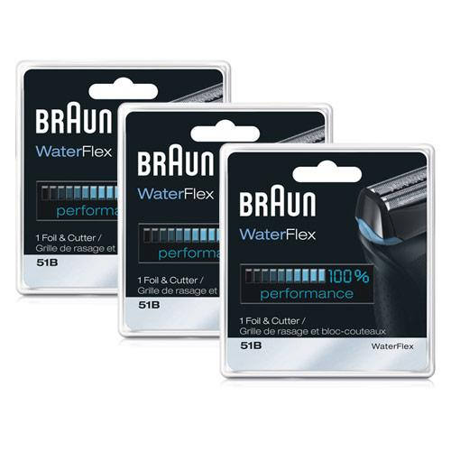 Braun 51b (3-Pack) Replacement Foil and Cutter Combo