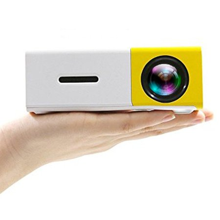 Podofo Mini Portable Projector LED Video Home Theater 1080P Full Color Media Player Personal Cinema TV Laptop Game - Entertainment