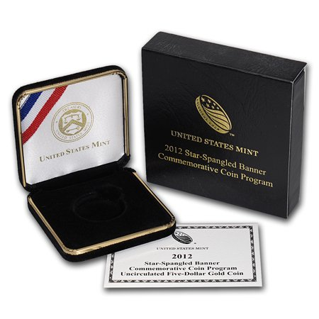 Box Coa No Coin - OGP Box & COA - 2012 U.S. Mint Star Spangled Banner Au Unc. Coin