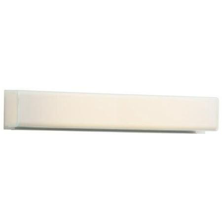 Robern MTL24FLIZN Eyezon Single Light 24in Bathroom Bath Bar with White Shade