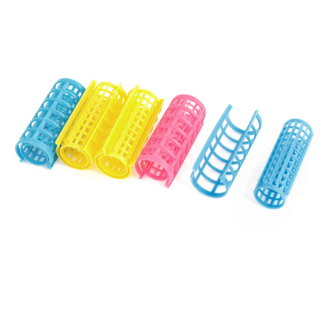 Lady DIY Hairstyle Plastic Hair Curlers Rollers Clips 5 Pcs