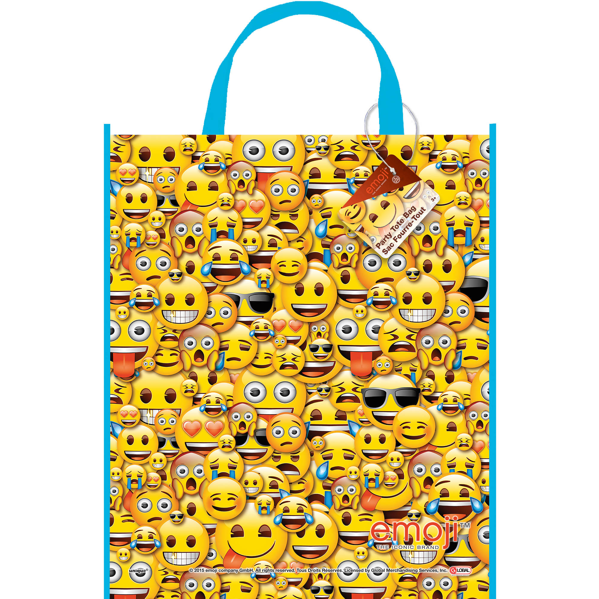 Large Plastic Emoji Favor Bag, 13