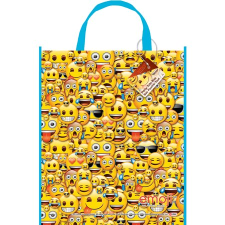 Large Plastic Emoji Goodie Bag, 13 x 11 in, 1ct - Large Plastic Cauldron