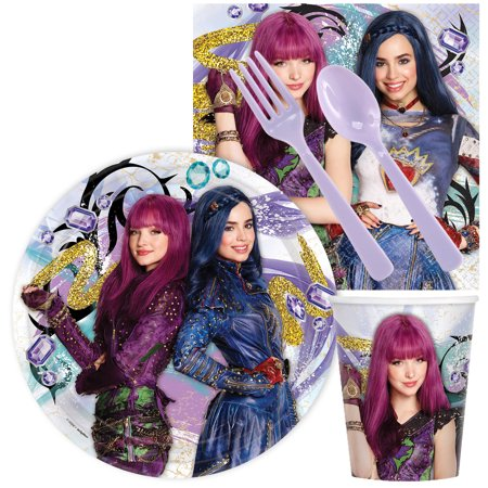 Descendants 2 Mal and Evie Standard Tableware Kit (Serves - Costume Party Supplies