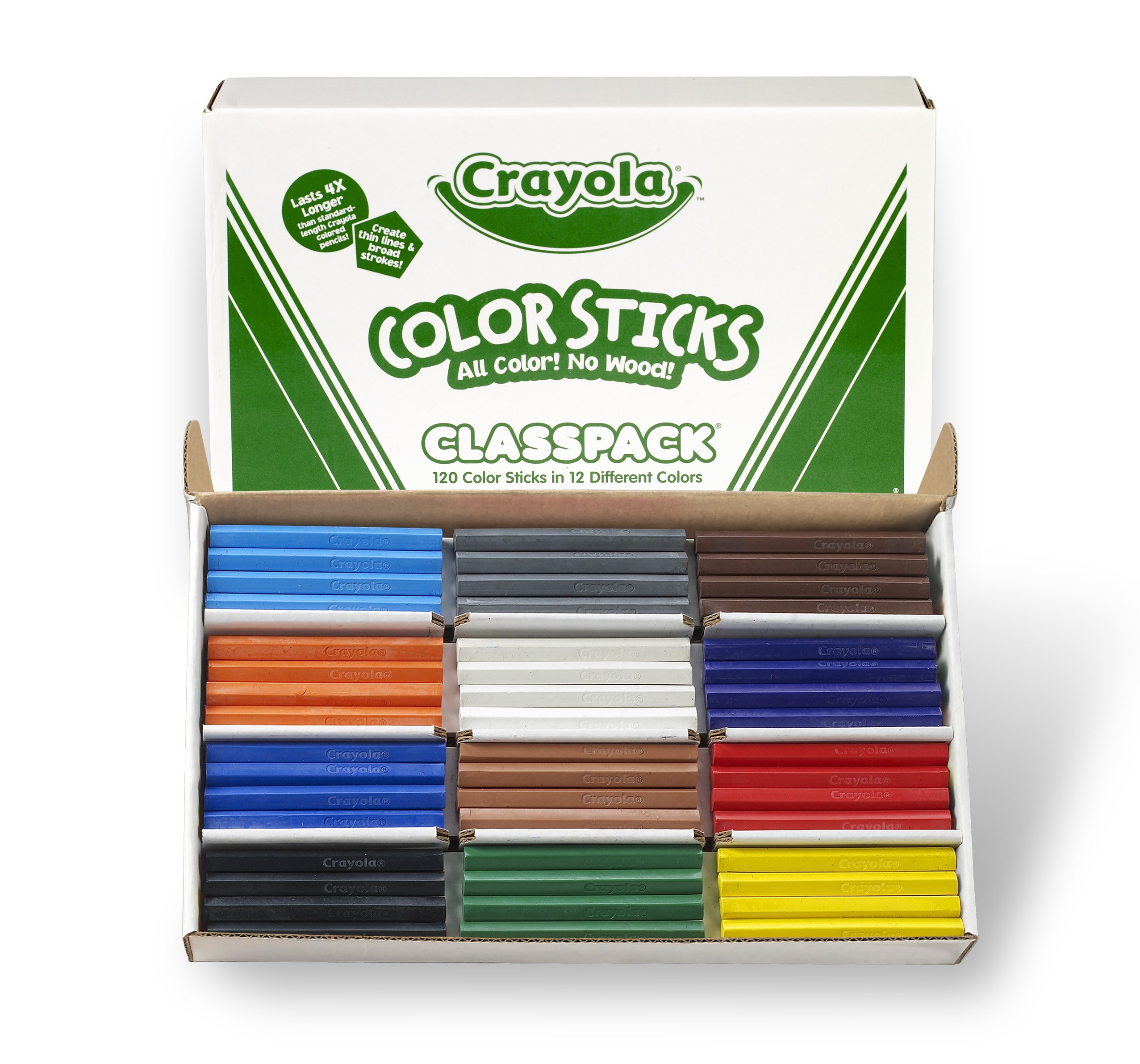Cryola Color Sticks Classpack , 120-count in 10 colors