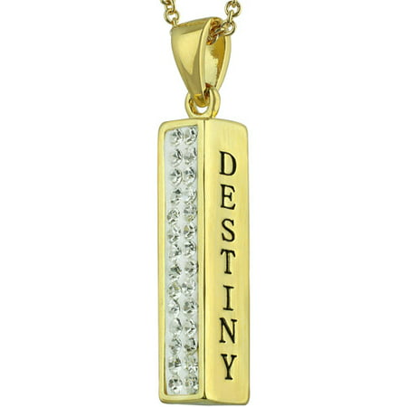 Truly Inspired Gold Plated 'Destiny, Infinite' Crystal Sentiment 18