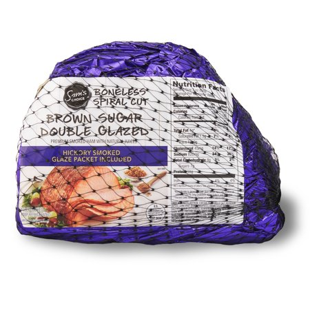 Sams Choice Spiral-Cut Boneless Brown Sugar Double Glazed Ham, 2.0 - 4.8 lb