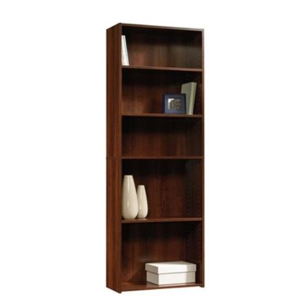 sauder beginnings 5 shelf bookcase in brook cherry. Black Bedroom Furniture Sets. Home Design Ideas