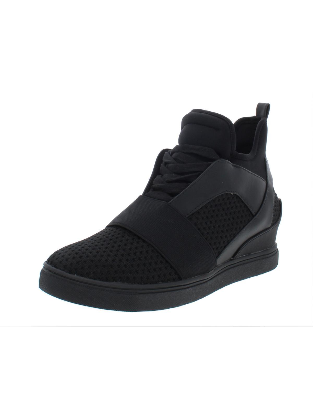 66cbae2c472 Steve Madden Womens Lexi Neoprene Hidden Wedge Fashion Sneakers