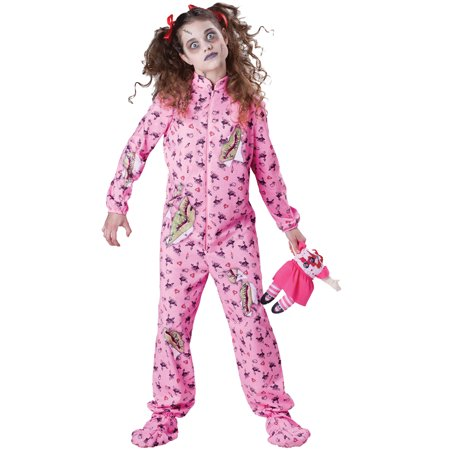 Zombie Print Girl Tween Costume (Zombie Girl Makeup For Halloween)