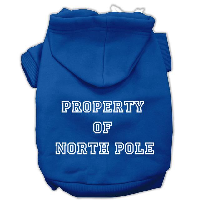 Property Of North Pole Screen Print Pet Hoodies Blue Size Xxl (18) - image 1 de 1
