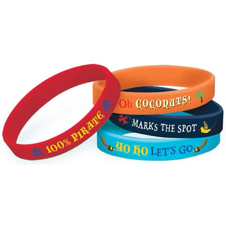 Jake And The Neverland Pirates Bracelets (4 Pack) - Party Supplies (Jake And The Neverland Pirates Party Supplies)