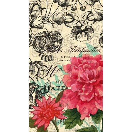 Accent Napkin - Vintage Floral Embossed Paper Napkin, 15 count, Accent the decor at your next gathering or party with these napkins By Cypress Home from USA