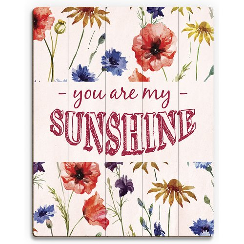 Click Wall Art 'You Are My Sunshine' Textual Art on Plaque