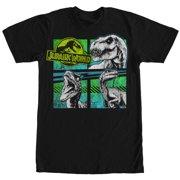 Jurassic World Men's T. Rex and Velociraptors T-Shirt