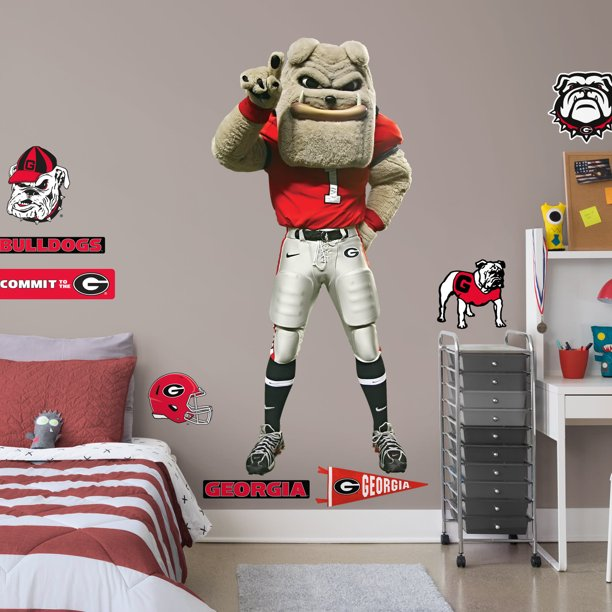 Fathead Georgia Bulldogs Hairy Dawg Mascot Life Size Officially Licensed Removable Wall Decal Walmart Com Walmart Com
