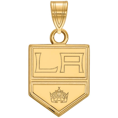 LogoArt NHL Los Angeles Kings 14kt Gold-Plated Sterling Silver Small Pendant