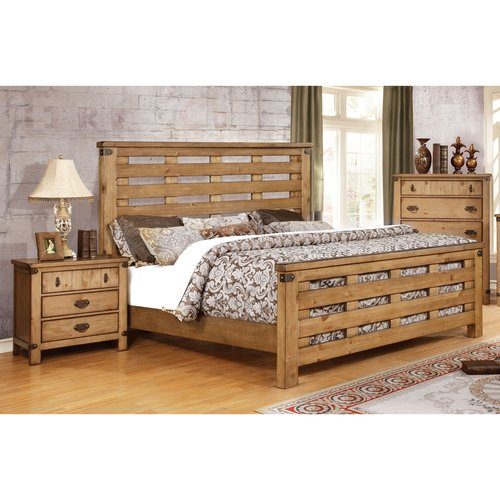 Furniture of America Moira II Country Style 2-Piece Weathered Elm Bedroom Set, Multiple Sizes by Furniture of America