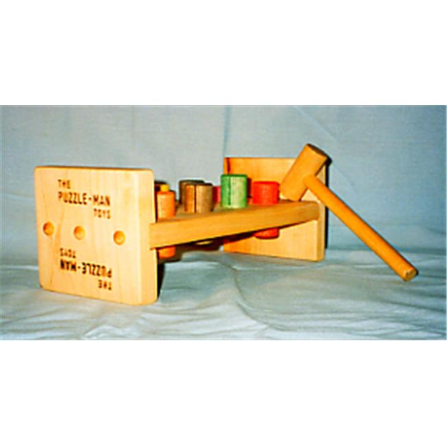 THE PUZZLE-MAN TOYS W-1500 Wooden Toy - Pounding Pegs