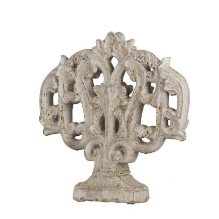 A&B Home Classic Vintage Medium Cement Decorative Accent Sculpture, 14x3x14 inches - Home Decorative Accents