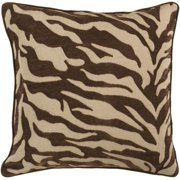 "18"" Chestnut and Khaki Brown Animal Print Decorative Throw Pillow – Down Filler"