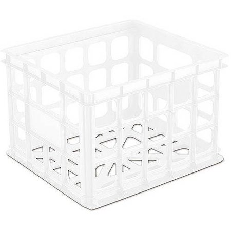 Sterilite Storage Crate- White, Set of 6