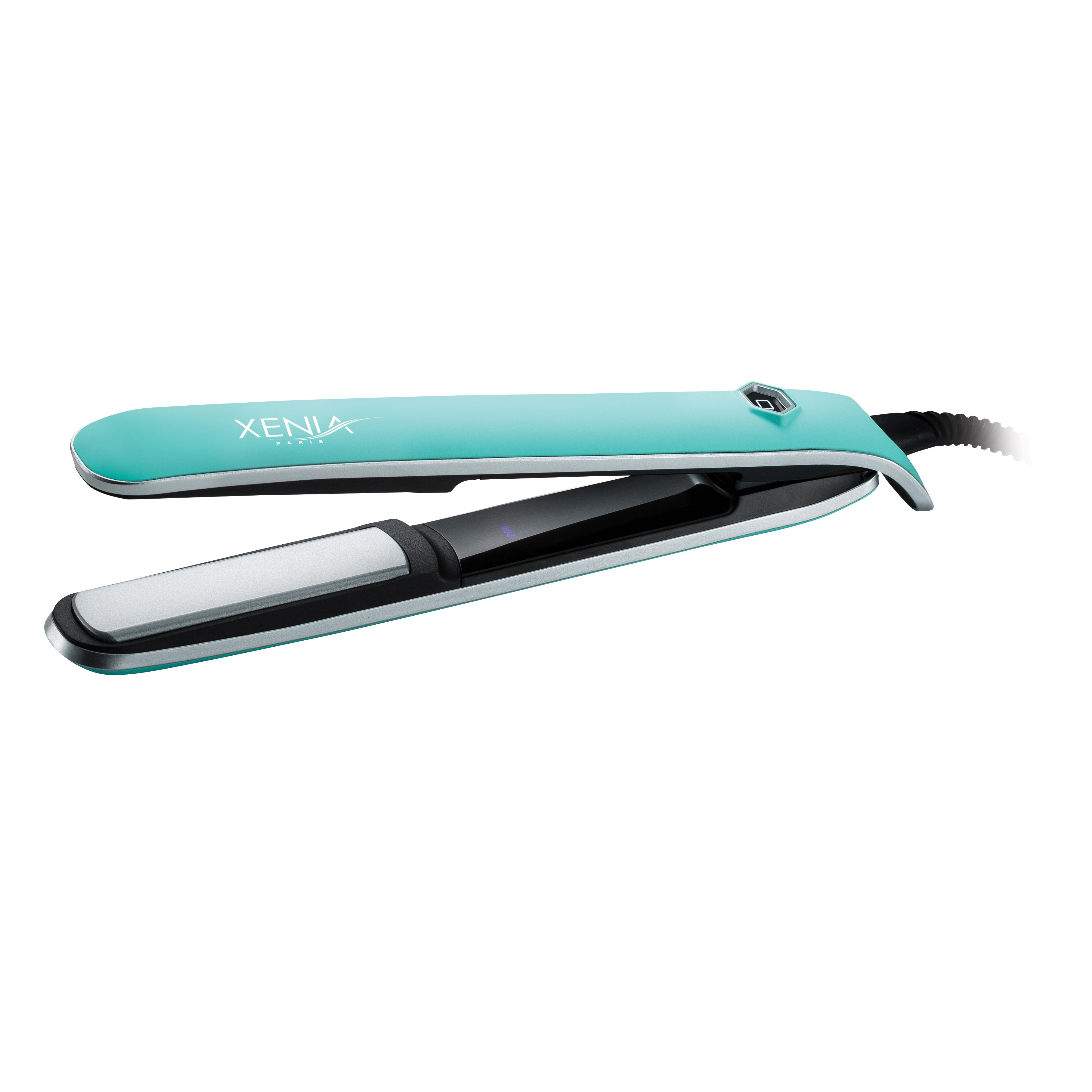 "Xenia Paris Sleek 1"" Professional Hair Straightener (Rubber Touch)-Turquoise"