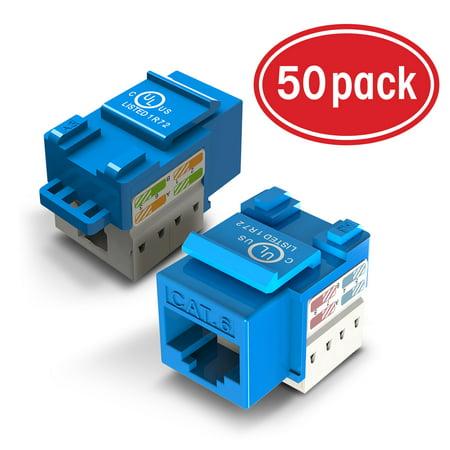 Peachy 50 Pack Ethernet Keystone Gearit Cat6 Rj45 Punch Down Keystone Jack Wiring Digital Resources Attrlexorcompassionincorg