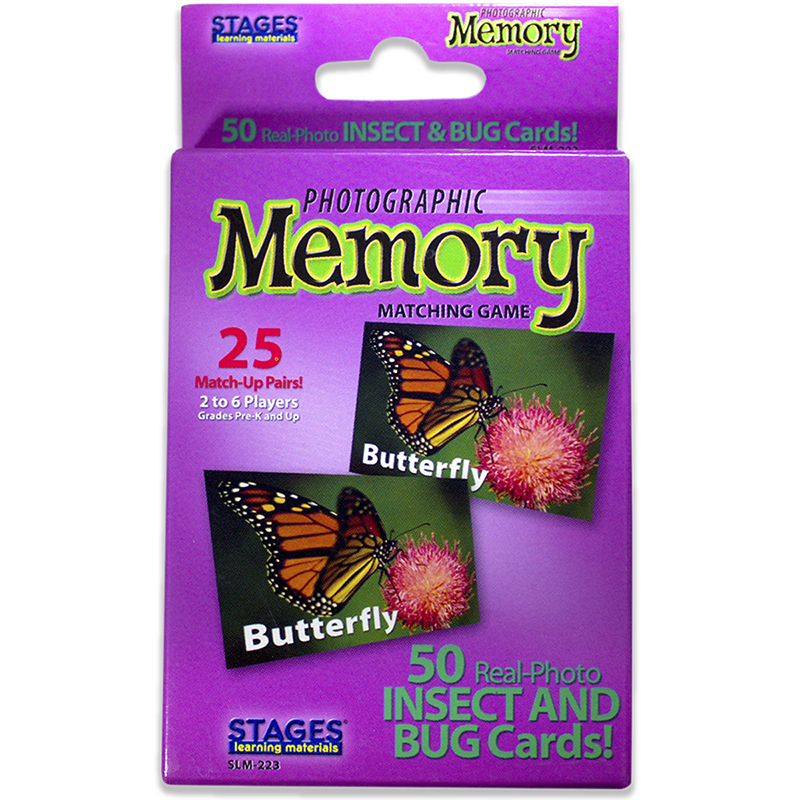 Picture Memory Insects & Bugs Card Game Real Photo Concentration Game