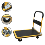 Magshion Platform Cart Folding Dolly Foldable Hand Truck  330LB-Yellow