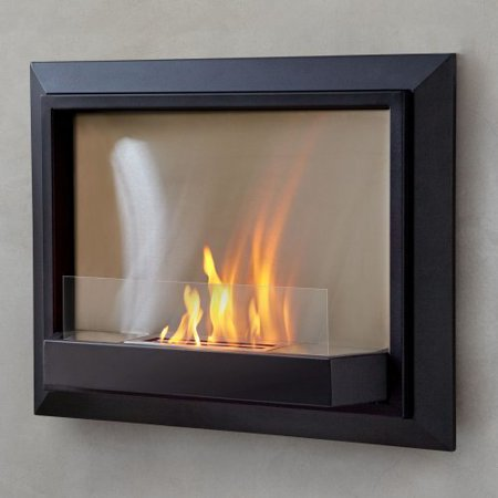 Real Flame Envision Wall Fireplace Black