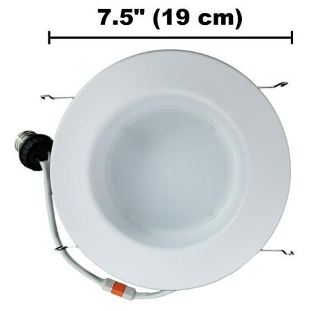 Philips 65-Watt Equivalent BR30 LED 5/6 in. Retrofit Trim Recessed Downlight Dimmable Energy Star Flood Light Bulb Daylight