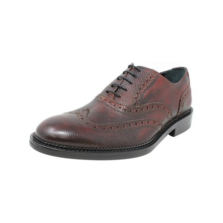 Bugatchi Men's Novara Derby Bordeaux Ankle-High Leather Oxford Shoe - (Bordeaux Leather)