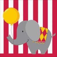Circus Time 3-Ply Lunch Napkins , 2PK